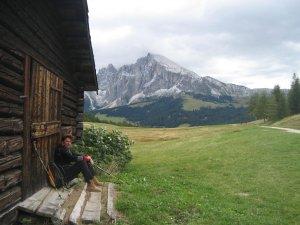 Tussenstop en wandelen in de Dolomieten