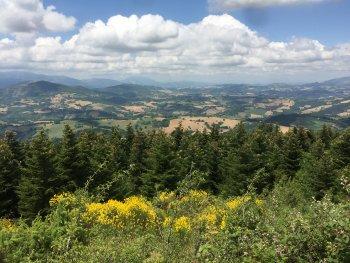 Mooi uitzicht over Le Marche